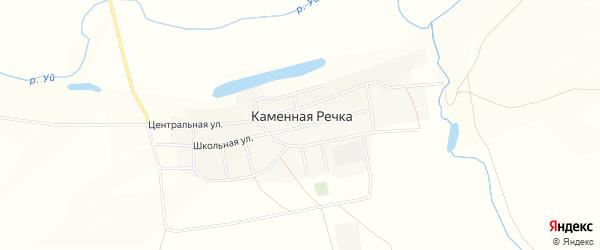 Карта поселка Каменной Речки в Челябинской области с улицами и номерами домов