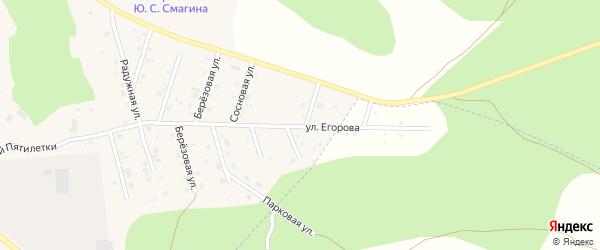 Улица Худякова на карте Миасского села с номерами домов