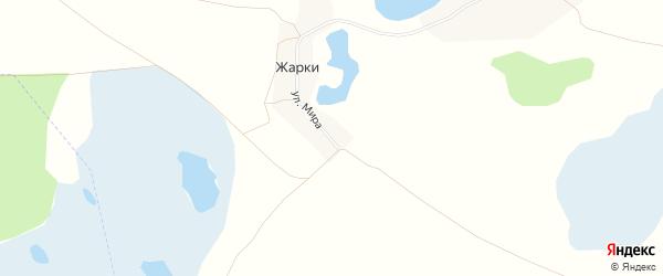 Карта деревни Жарки в Челябинской области с улицами и номерами домов