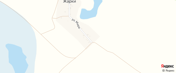Улица Мира на карте деревни Жарки с номерами домов