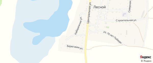 Набережная улица на карте Лесного поселка с номерами домов