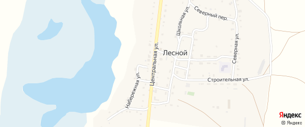 Центральная улица на карте Лесного поселка с номерами домов
