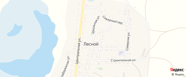 Школьная улица на карте Лесного поселка с номерами домов