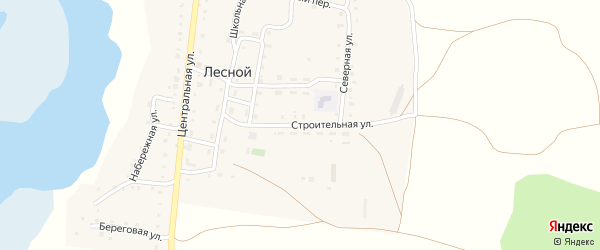 Строительная улица на карте Лесного поселка с номерами домов