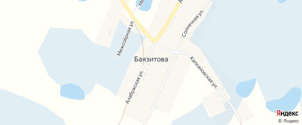 Старобаязитовский переулок на карте деревни Баязитова с номерами домов