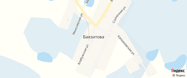 Капкановская улица на карте деревни Баязитова с номерами домов