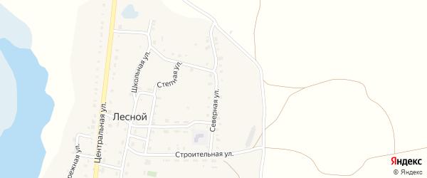 Северная улица на карте Лесного поселка с номерами домов