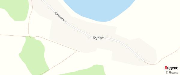 Дачная улица на карте деревни Кулата с номерами домов