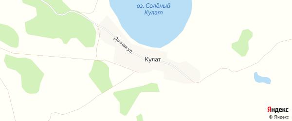 Карта деревни Кулата в Челябинской области с улицами и номерами домов