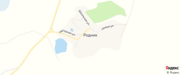 Карта поселка Родника в Челябинской области с улицами и номерами домов
