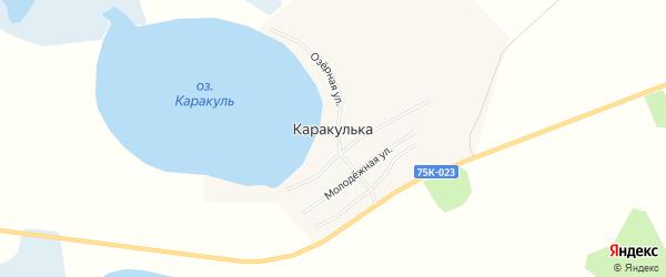 Карта поселка Каракульки в Челябинской области с улицами и номерами домов