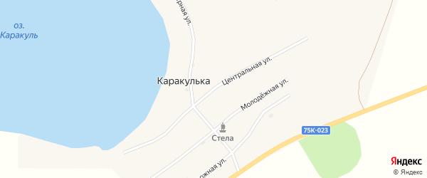 Центральная улица на карте поселка Каракульки с номерами домов
