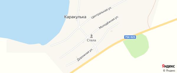 Молодежная улица на карте поселка Каракульки с номерами домов