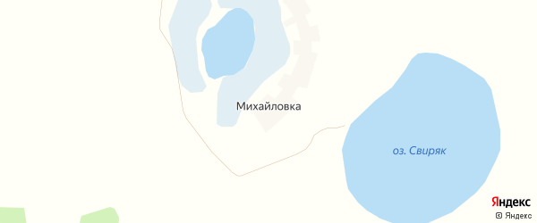 Карта деревни Михайловки в Челябинской области с улицами и номерами домов