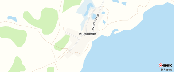 Карта деревни Анфалово в Челябинской области с улицами и номерами домов