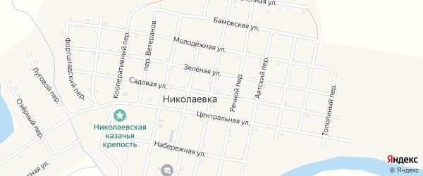 Российский переулок на карте села Николаевки с номерами домов