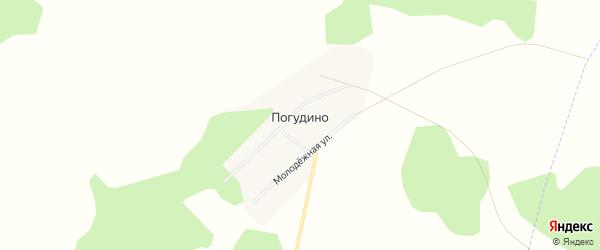 Карта деревни Погудино в Челябинской области с улицами и номерами домов