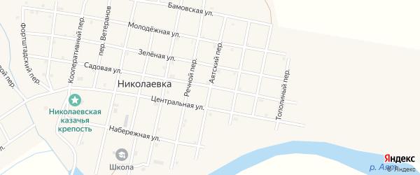Аятский переулок на карте села Николаевки с номерами домов