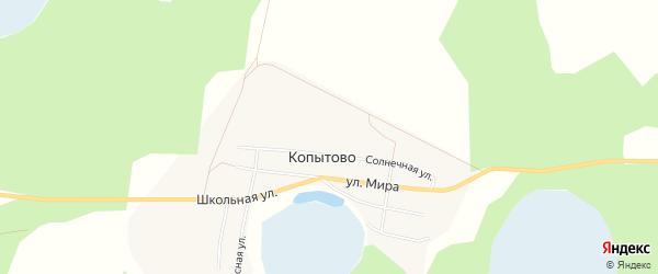 Карта деревни Копытово в Челябинской области с улицами и номерами домов