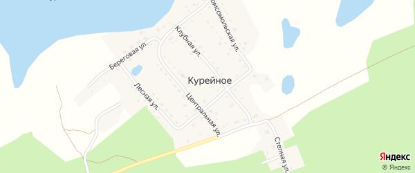 Центральная улица на карте поселка Курейного с номерами домов