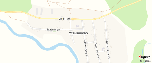 Солнечная улица на карте села Устьянцево с номерами домов