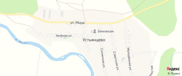 Улица Мира на карте села Устьянцево с номерами домов