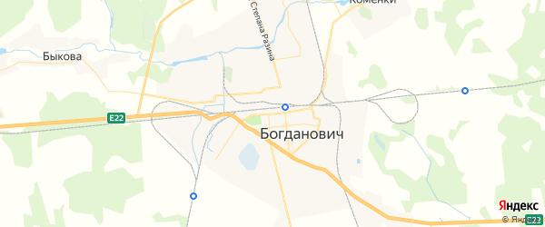 Карта Богдановича с районами, улицами и номерами домов