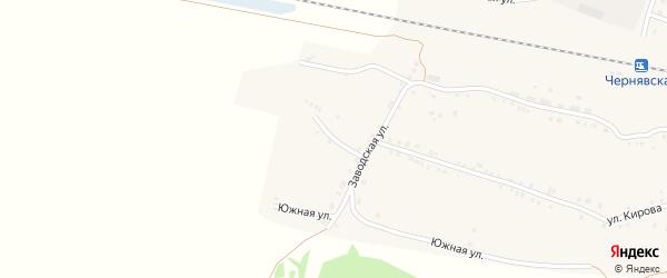 Кривой переулок на карте села Канашево с номерами домов