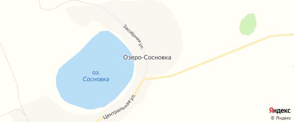 Карта деревни Озеро-Сосновки в Челябинской области с улицами и номерами домов