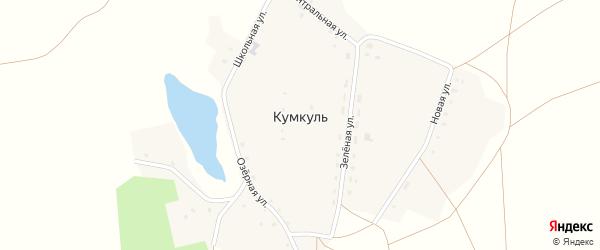 Школьная улица на карте поселка Кумкуля с номерами домов
