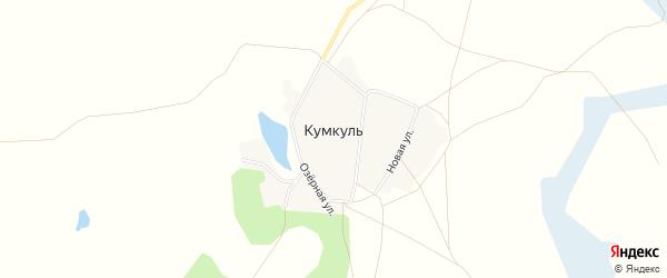 Карта поселка Кумкуля в Челябинской области с улицами и номерами домов