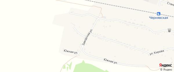 Заводская улица на карте села Канашево с номерами домов