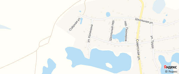 Улица Калинина на карте села Канашево с номерами домов
