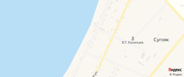 Улица Казанцева на карте села Сугояк с номерами домов