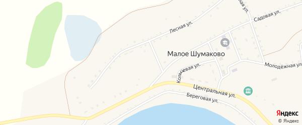 Садовая улица на карте села Малое Шумаково с номерами домов