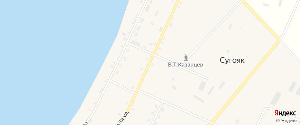 Советская улица на карте села Сугояк с номерами домов