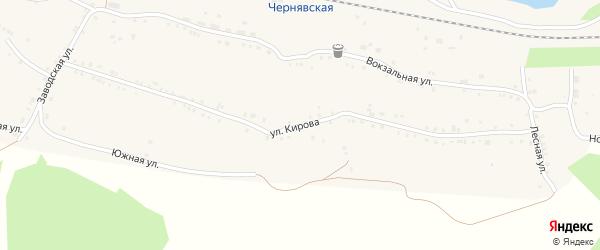 Улица Кирова на карте села Канашево с номерами домов