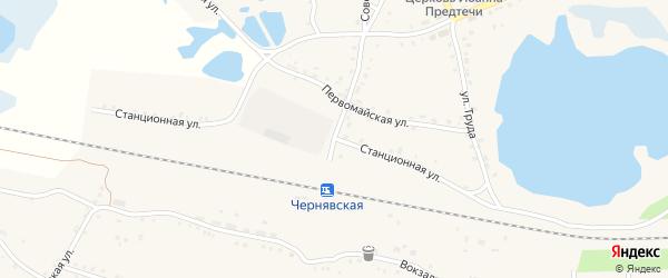 Станционная улица на карте села Канашево с номерами домов