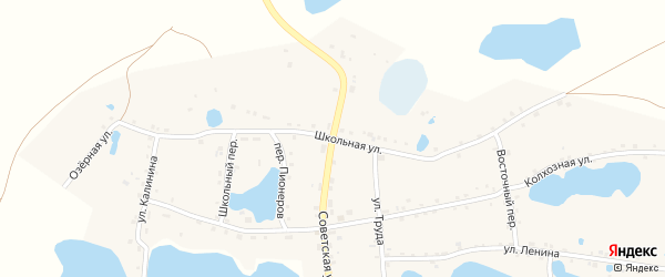Школьная улица на карте села Канашево с номерами домов