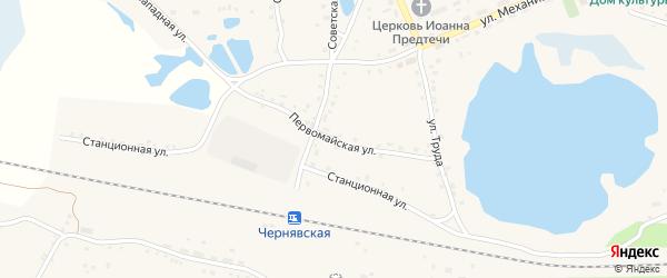 Первомайская улица на карте села Канашево с номерами домов