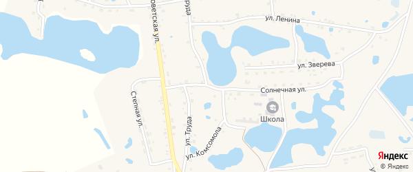 Улица Комсомола на карте села Канашево с номерами домов