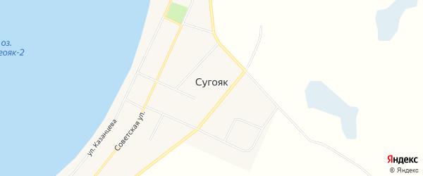 Карта села Сугояк в Челябинской области с улицами и номерами домов