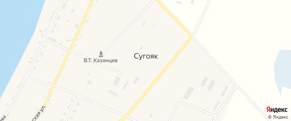 Улица 70 лет Октября на карте села Сугояк с номерами домов