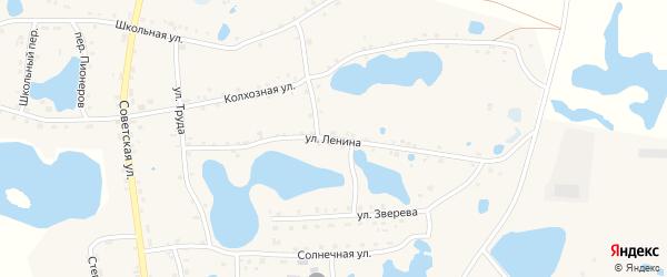 Улица Ленина на карте села Канашево с номерами домов