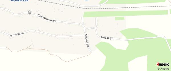 Лесная улица на карте села Канашево с номерами домов