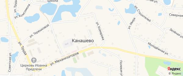 Садовая улица на карте села Канашево с номерами домов