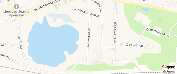 Береговая улица на карте села Канашево с номерами домов