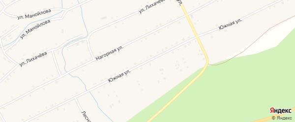 Южная улица на карте села Бродокалмака с номерами домов