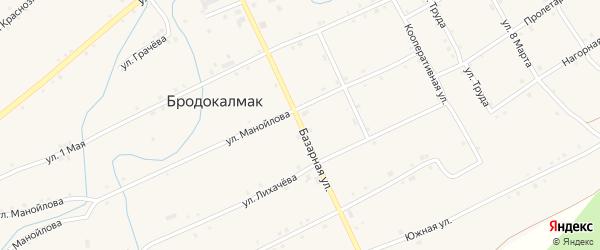 Базарная улица на карте села Бродокалмака с номерами домов