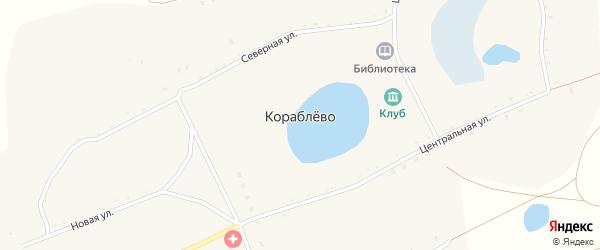 Южная улица на карте деревни Кораблево Пискловского СП с номерами домов